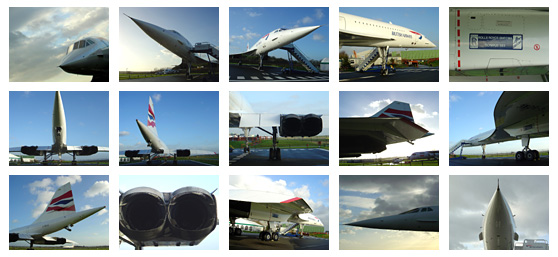 Images of the supersonic Concorde G-BOAC at Manchester airport