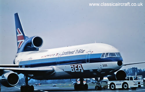L1011 Tristar in BEA Colours