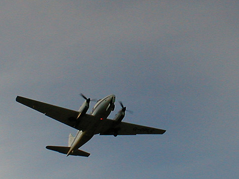 De Havilland Dove coming in to land photo