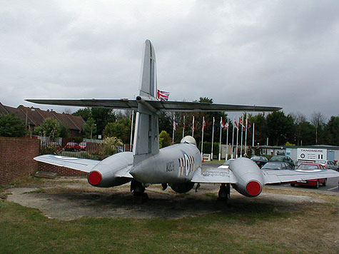 Gloster Meteor F8 rear view photo